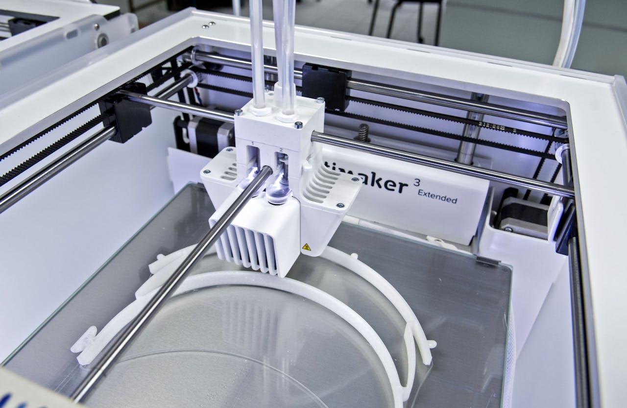 Een 3D-printer ter illustratie