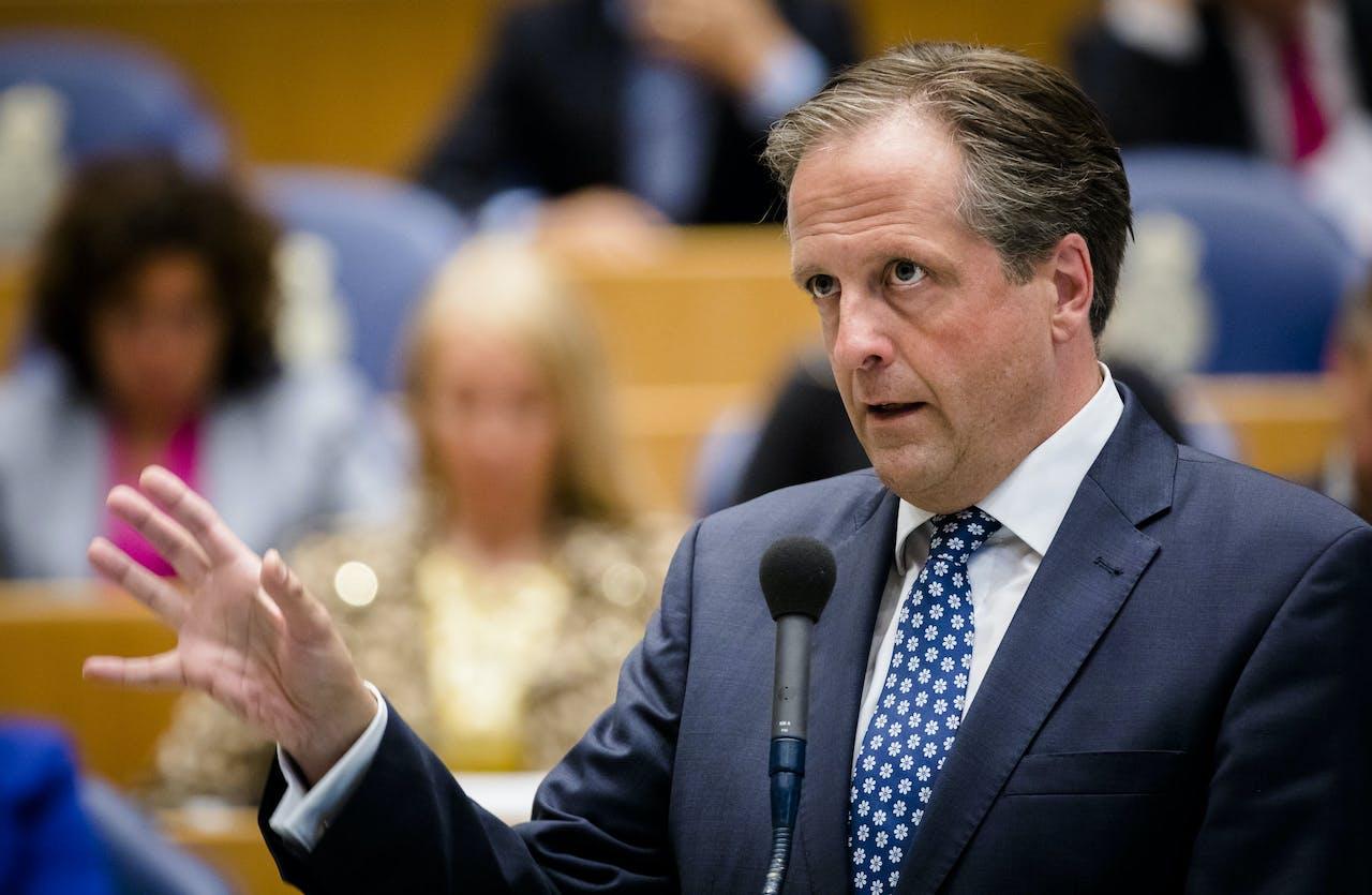 2017-06-13 16:52:24 DEN HAAG - Alexander Pechtold (D66) tijdens het debat over het stuklopen van de formatie. ANP BART MAAT