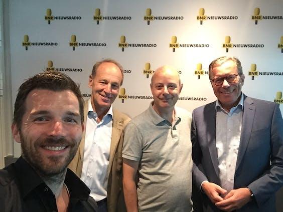 V.l.n.r. John-Boy Vossen, Henk Schulte Nordholt, Mark Beekhuis, Dirk Jan van den Berg