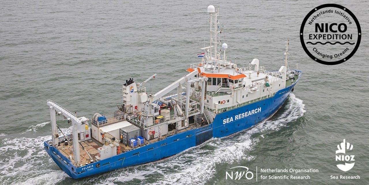 Het onderzoeksschip, de RV Pelagia