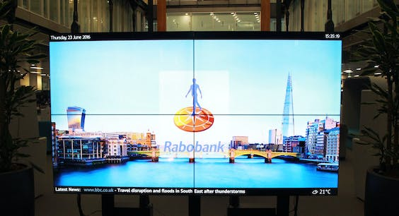 Rabobank International bank in the City of London. picture Sean Dempsey for ANP 23rd June 2016