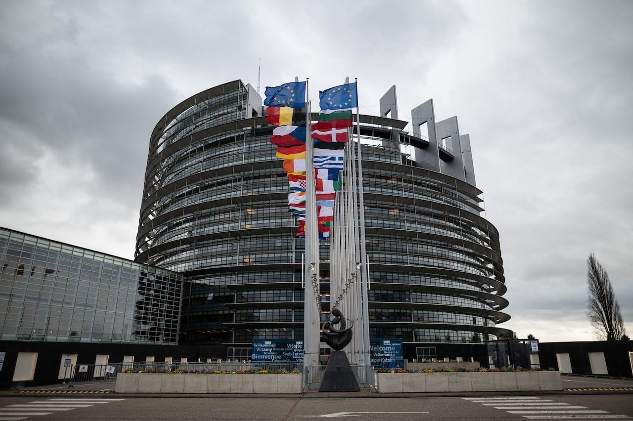Het hoofdkantoor van de Europese Unie in Straatsburg.