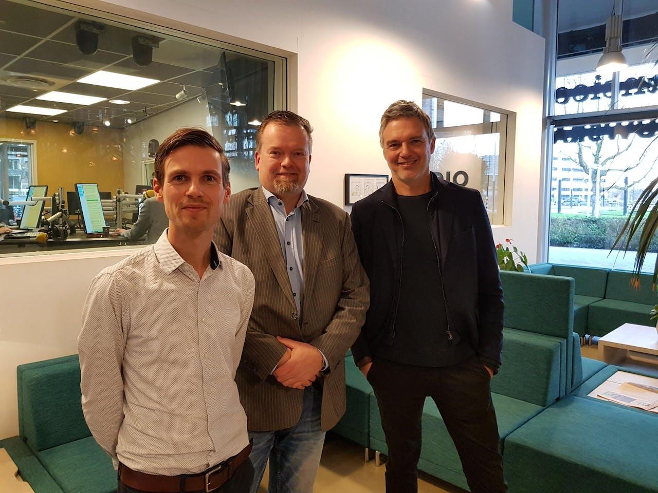 V.l.n.r.: Bas Slager, Arend van de Beek en Paul Laseur.