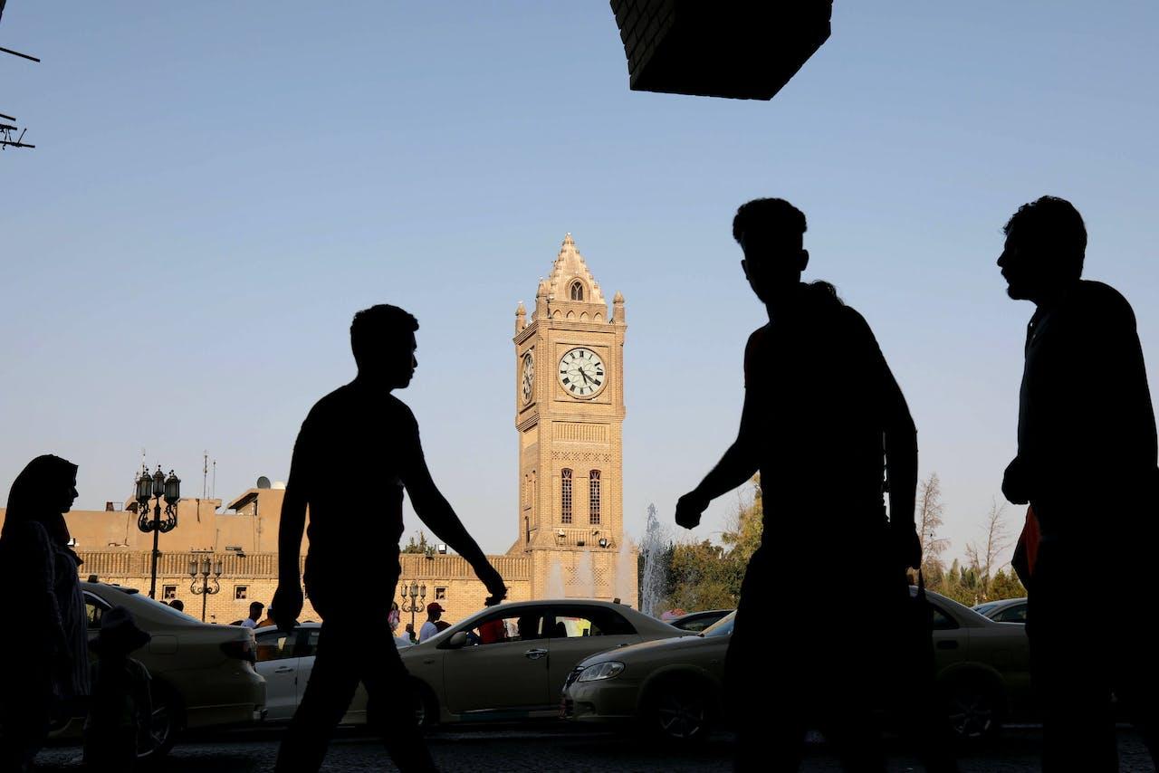 Centraal plein bij de citadel in Erbil.