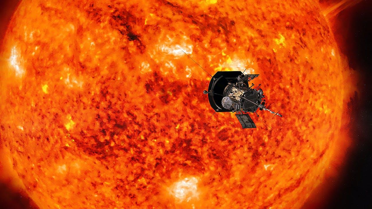 Artistieke interpretatie van de Parker solar probe