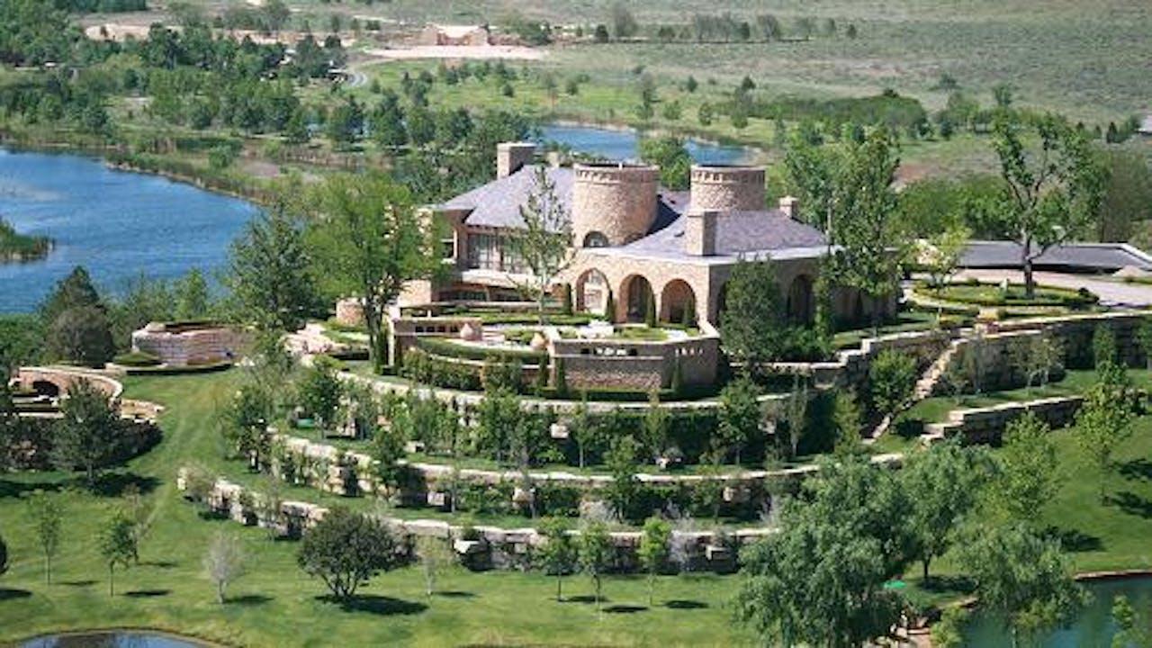 Het hoofdverblijf op landgoed Mesa Vista Ranch
