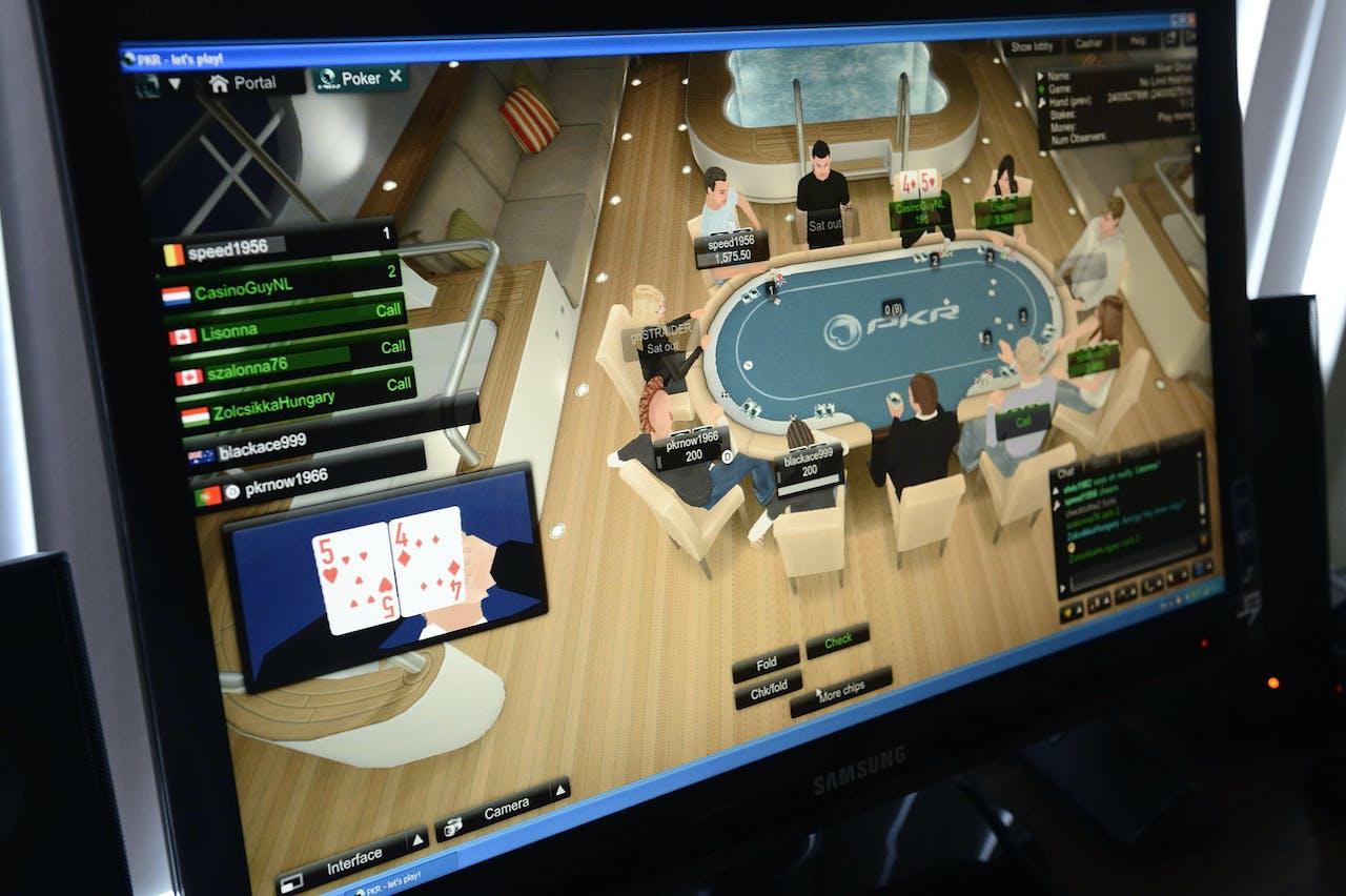 2013-08-14 14:11:55 AMSTERDAM - Website van een online casino waar mensen kunnen gokken via het internet. ANP XTRA LEX VAN LIESHOUT