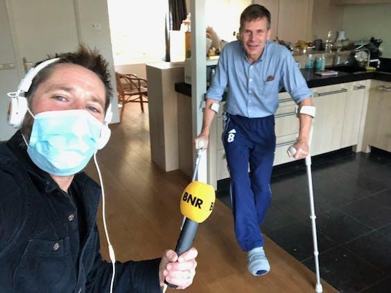 Verslaggever Harmen van der Veen en longarts Jan Grutters