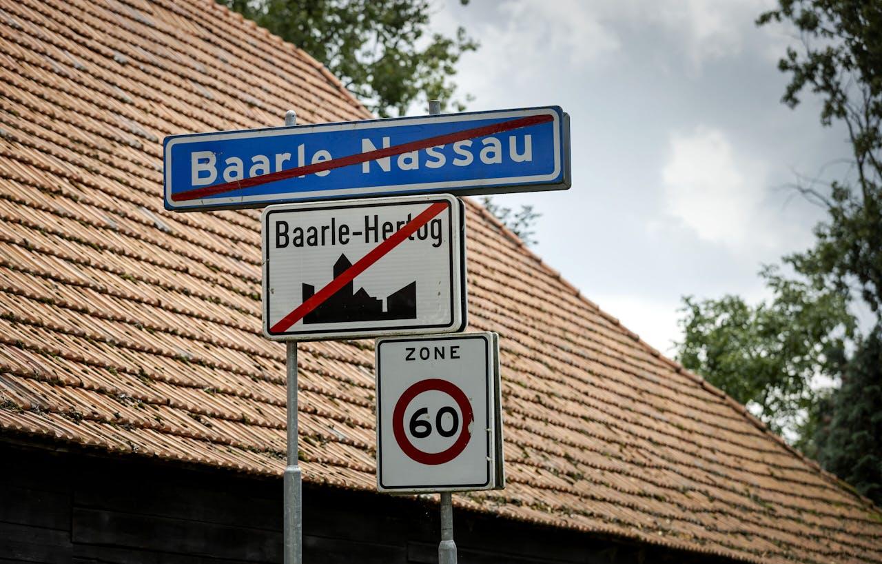Een bord in de grensplaats Baarle-Nassau.