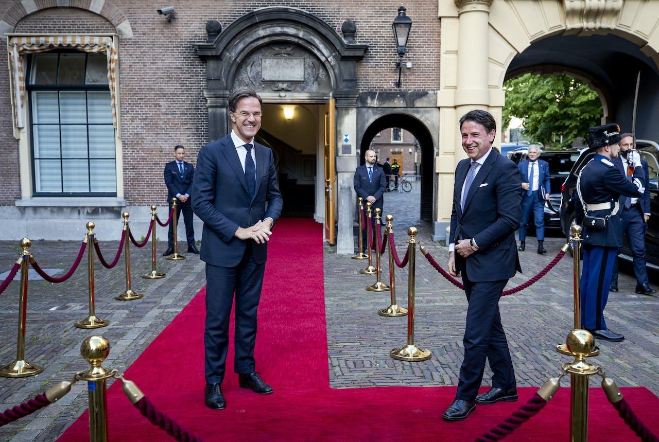 Premier Rutte verwelkomt de Italiaanse Giuseppe Conte