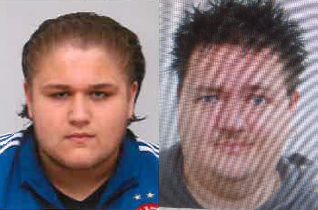 De twee ontvoerde mannen. Foto politie