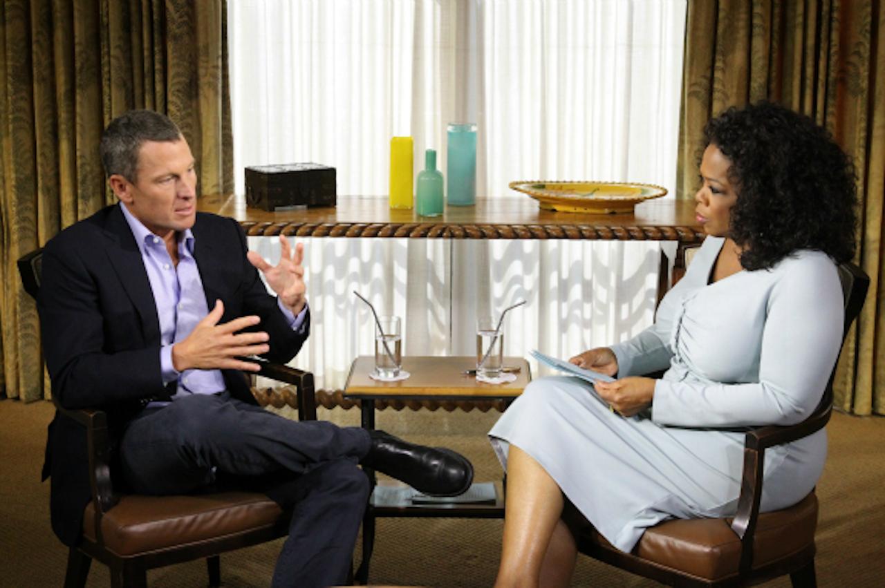 Lance Armstrong bij Oprah Winfrey (Foto: ANP)