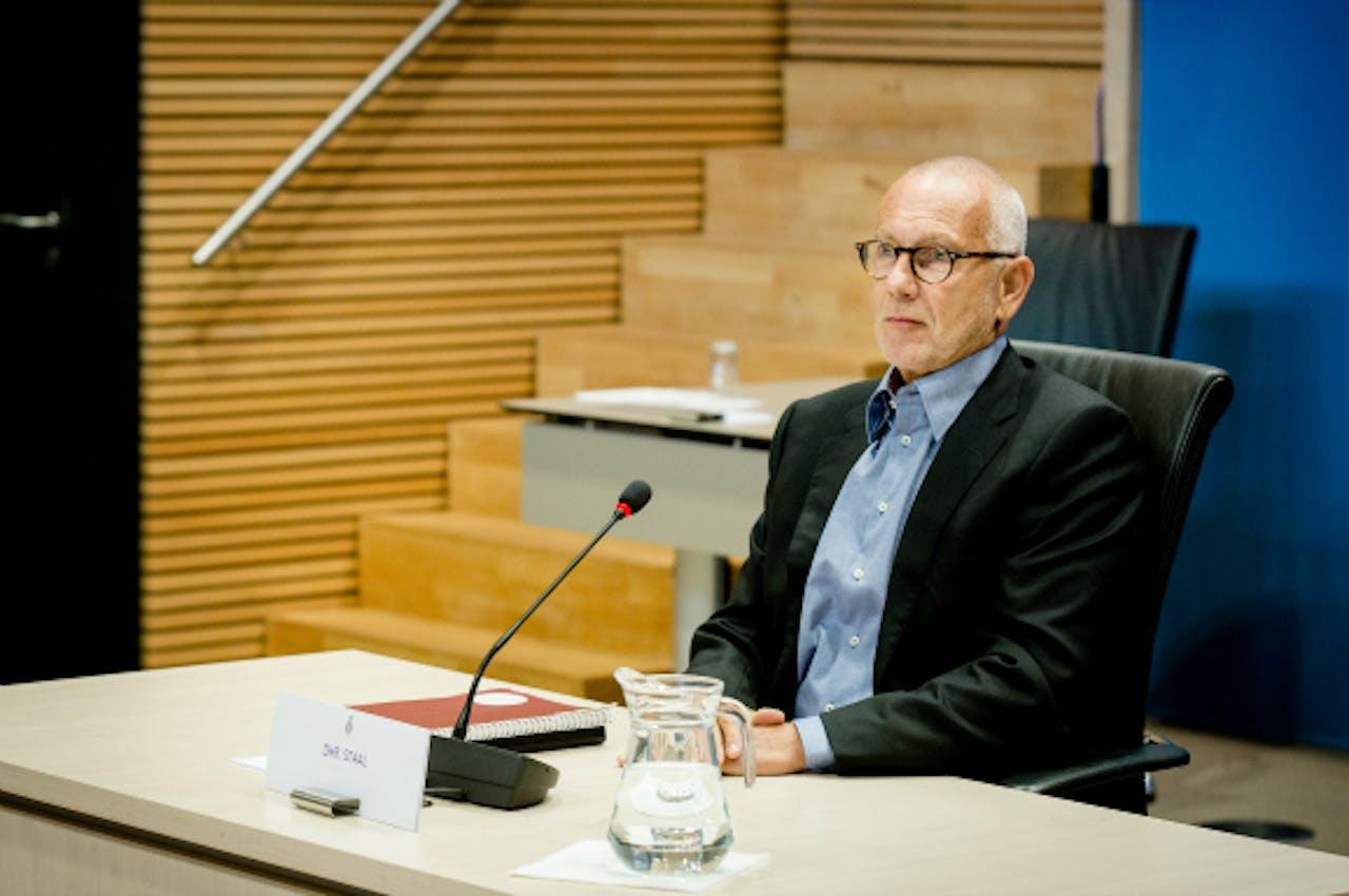 Juni 2014: Erik Staal voor de Parlementaire Enquêtecommissie Woningcorporaties. Foto: ANP