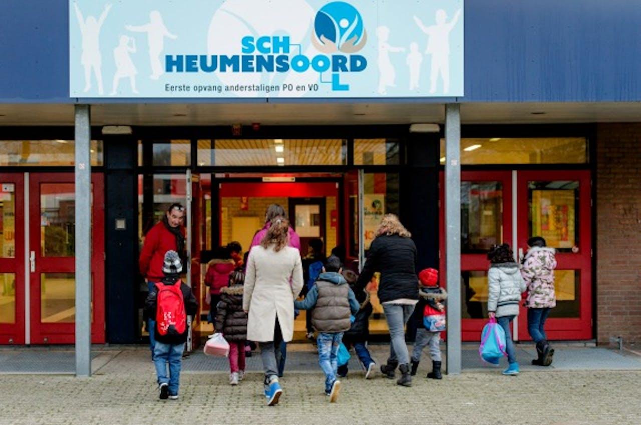 In januari werd een speciale school voor vluchtelingenkinderen geopend in Nijmegen: De Heumensoord. Foto: ANP