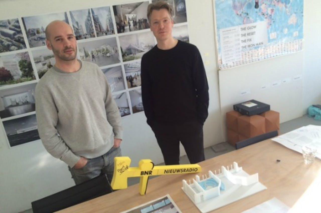 Architecten Max Cohen de Lara (links) en David Mulder van ontwerpbureau XML. Foto Anke Truijen