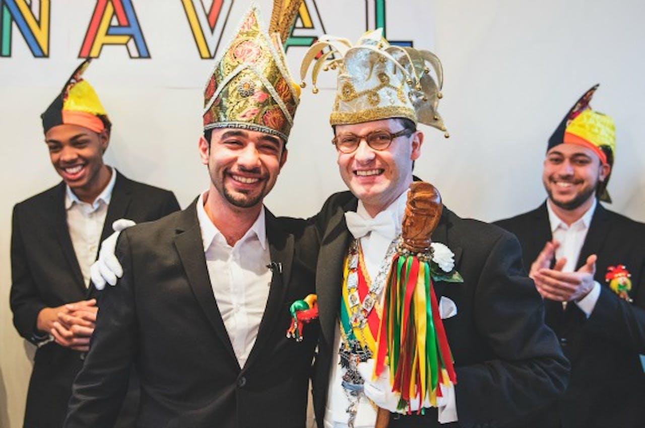 Common Carnaval Prins Ali I en Stadsprins van Maastricht Bastiaan I. Foto: Jonathan Vos