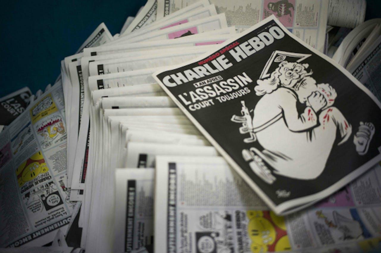 Herdenkingsnummer van Charlie Hebdo. Foto ANP