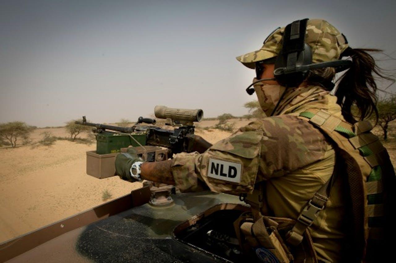 Nederlandse vrouwelijke militair in Mali. Foto ANP