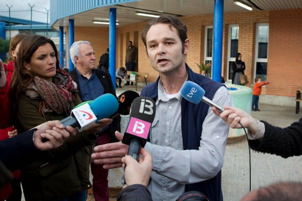 Roman van der Dussen na zijn vrijlating. Foto: ANP/AFP