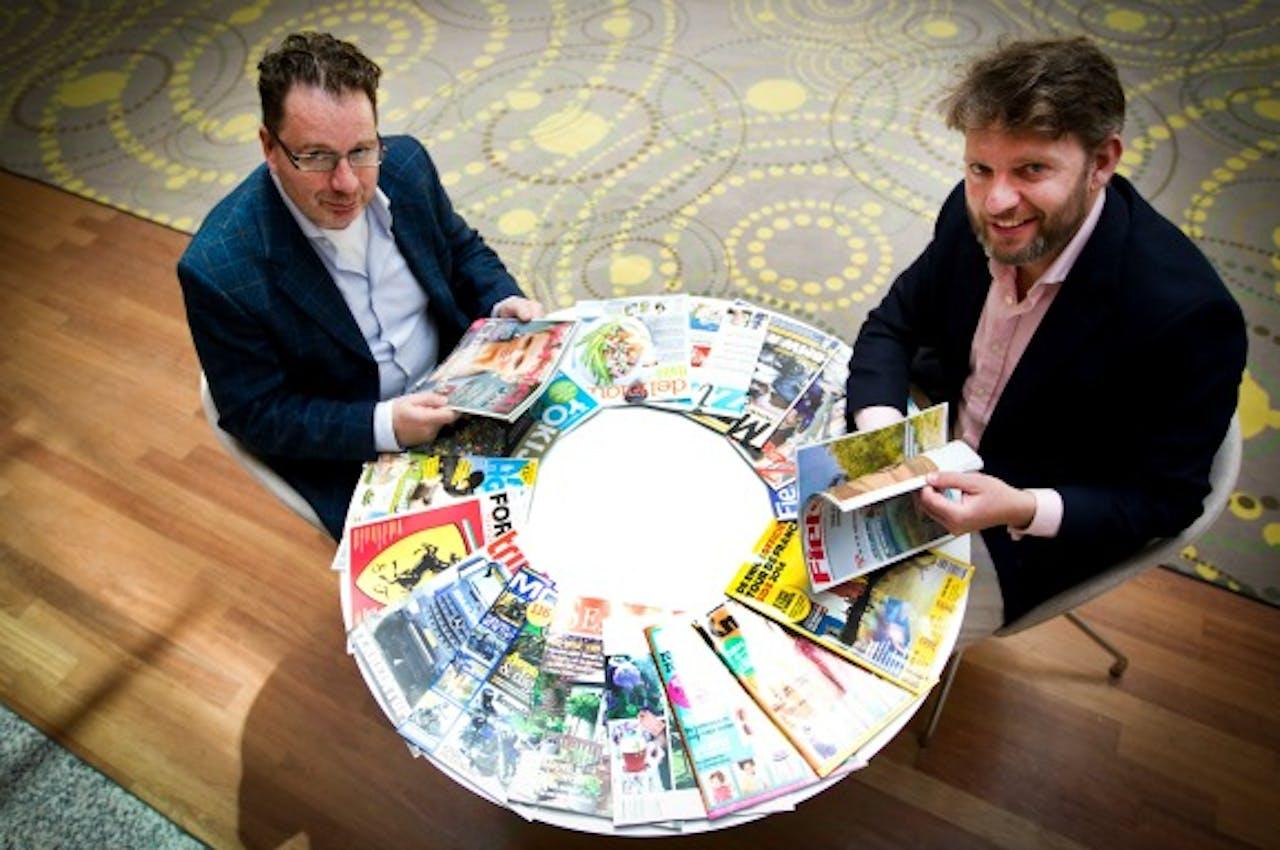 New Skool Media oprichters Rob Koghee (L) en Cor Jan Willig. Foto: ANP