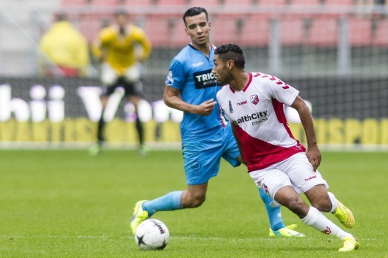 Anouar Kali (R) bij FC Utrecht. Archieffoto ANP