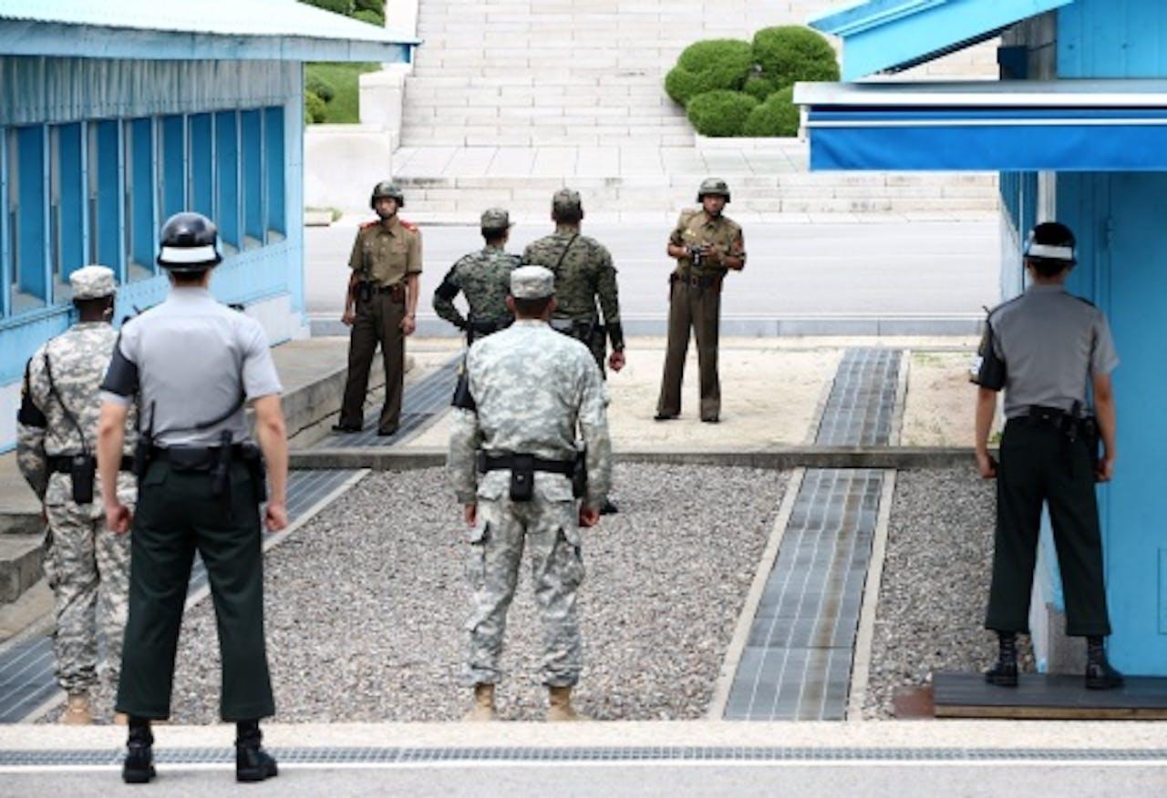 Grens tussen Noord- en Zuid-Korea (EPA)