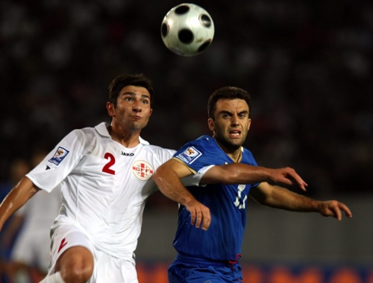 Guiseppe Rossi (R) tijdens het WK Voetbal in 2010. EPA