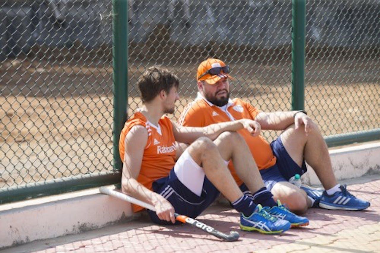 Bjorn Kellerman (L) en coach Max Caldas. Archieffoto ANP