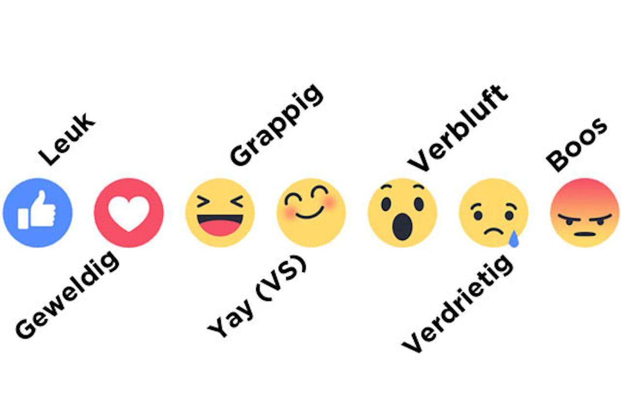 Nieuwe vind-ik-leuk knoppen van Facebook