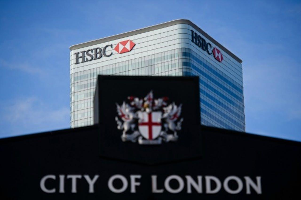 Het kantoor van Britse bank HSBC in Londen. Foto: ANP/AFP