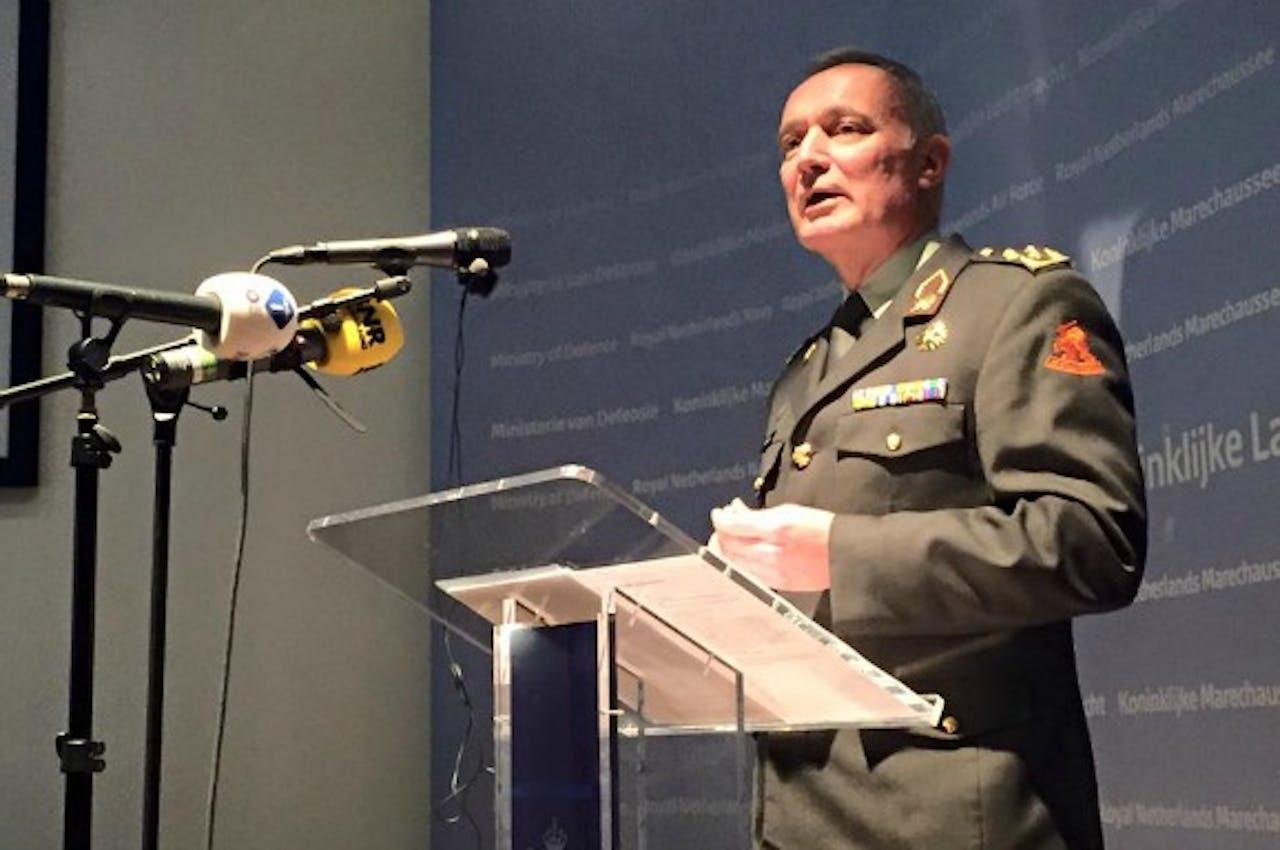 Commandant der Strijdkrachten Tom Middendorp. Foto: Jaap Jansen.