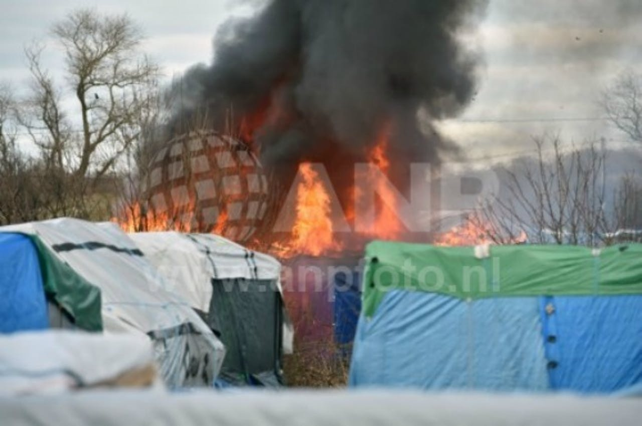 Ontruiming 'Jungle' Calais. Foto: ANP