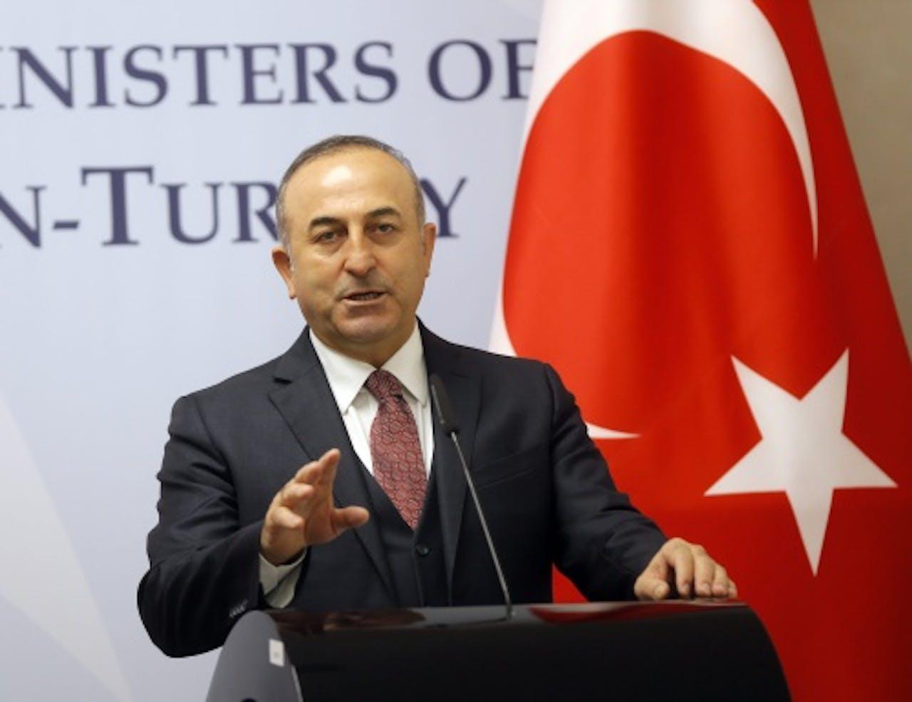 Mevlüt Cavusoglu, Turkse minister van Buitenlandse Zaken. EPA
