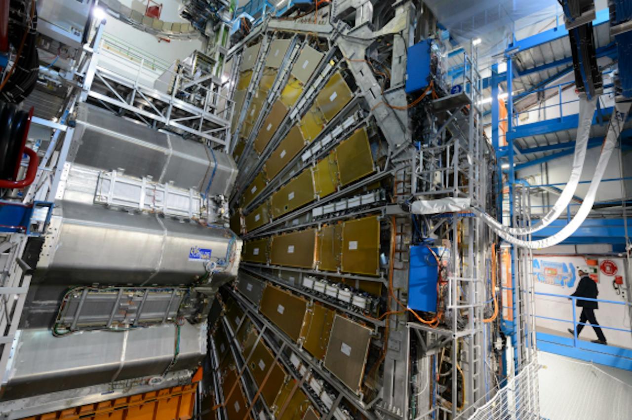 Het ATLAS experiment bij CERN (Foto: ANP)