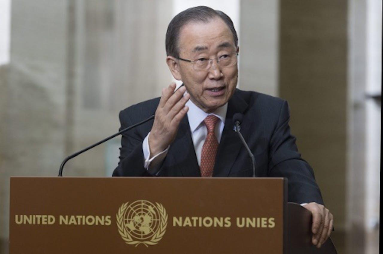 VN secretaris-generaal Ban Ki-moon. EPA