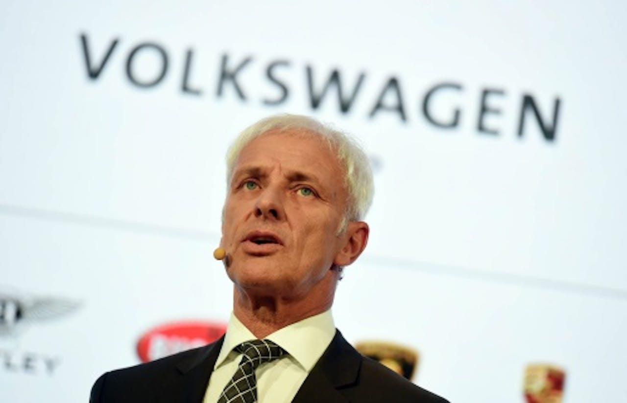 Volkswagen CEO Matthias Mueller. EPA