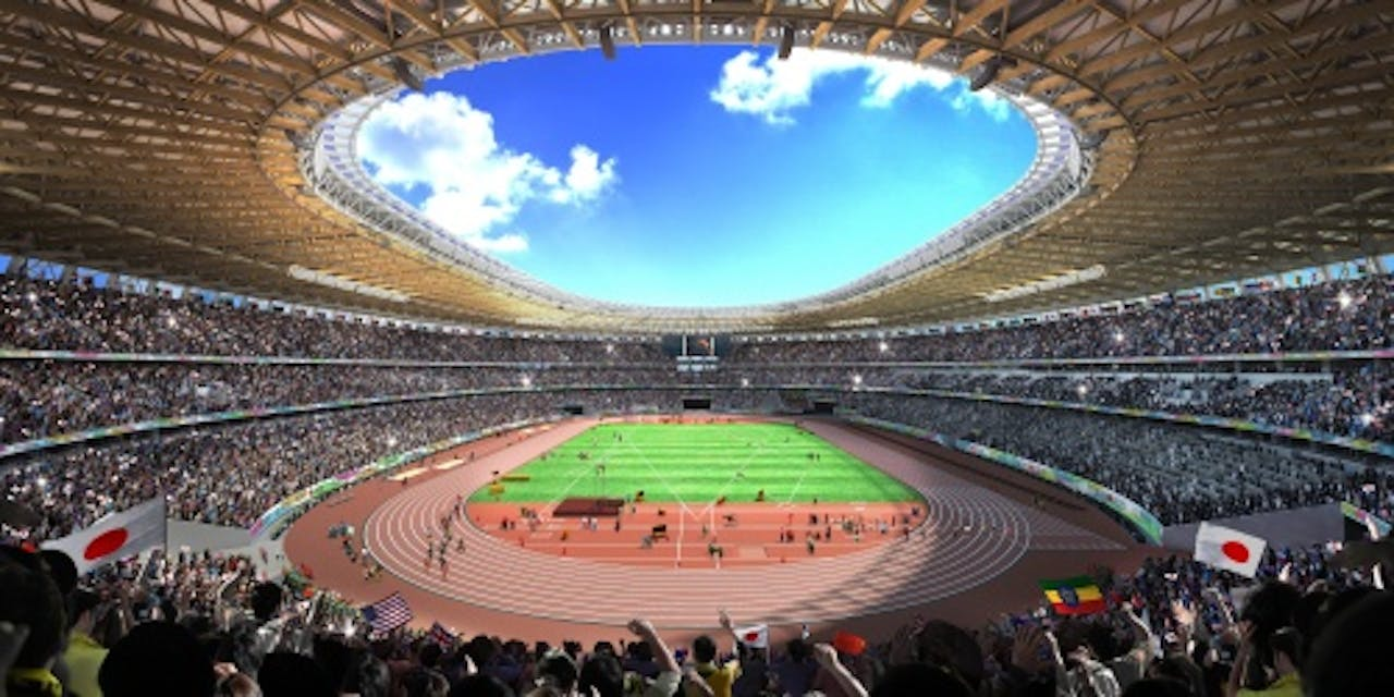 Concept olympisch stadion Japan. EPA