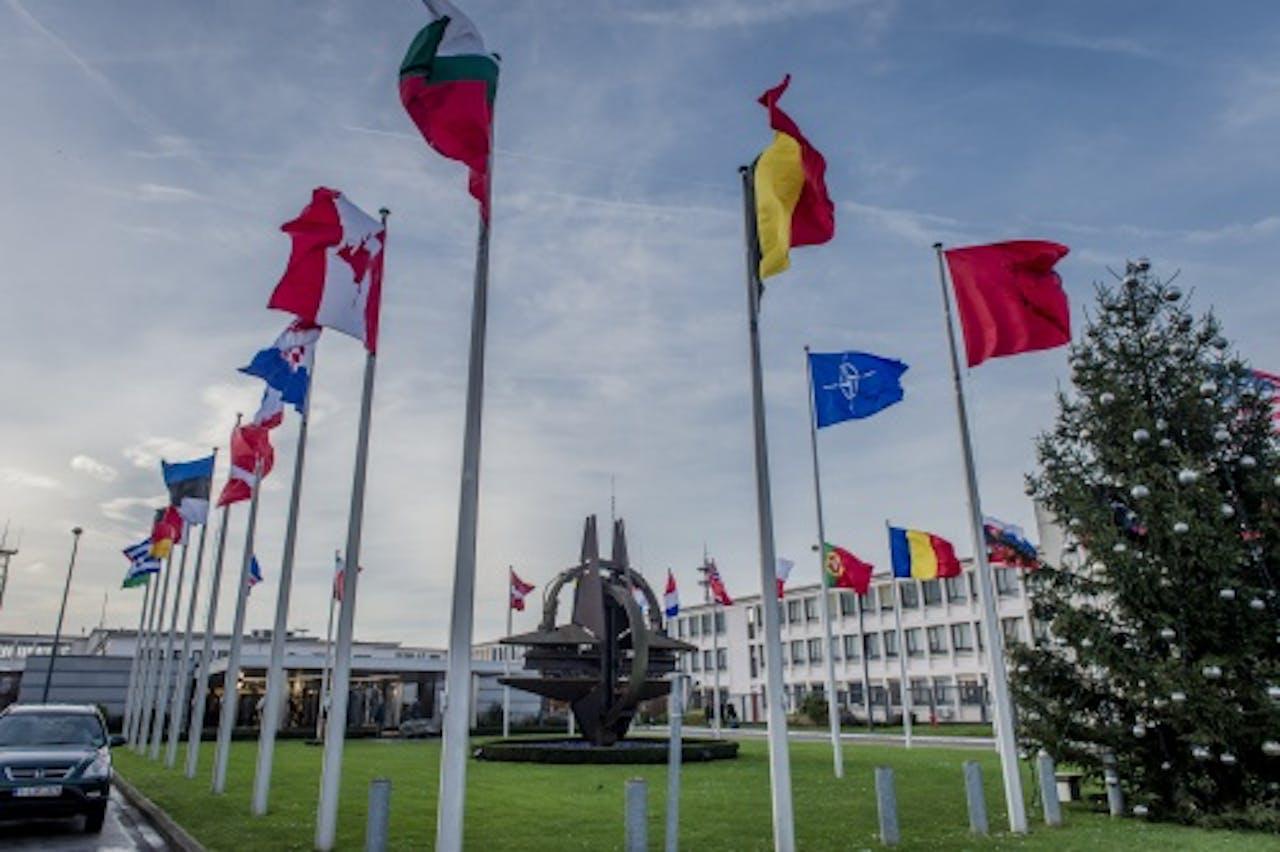 NAVO hoofdkwartier in Brussel. ANP ROYAL IMAGES