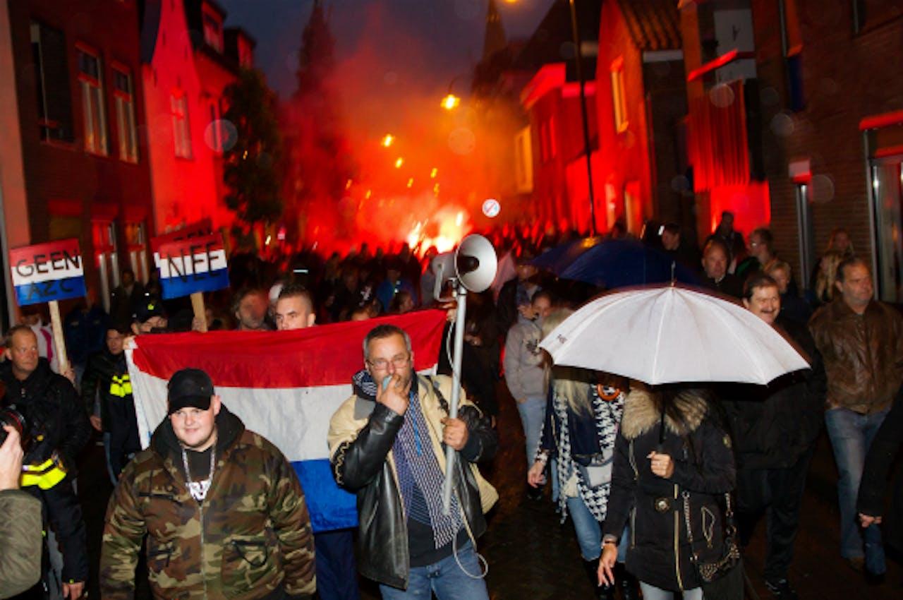Protest azc Steenbergen - Foto: ANP