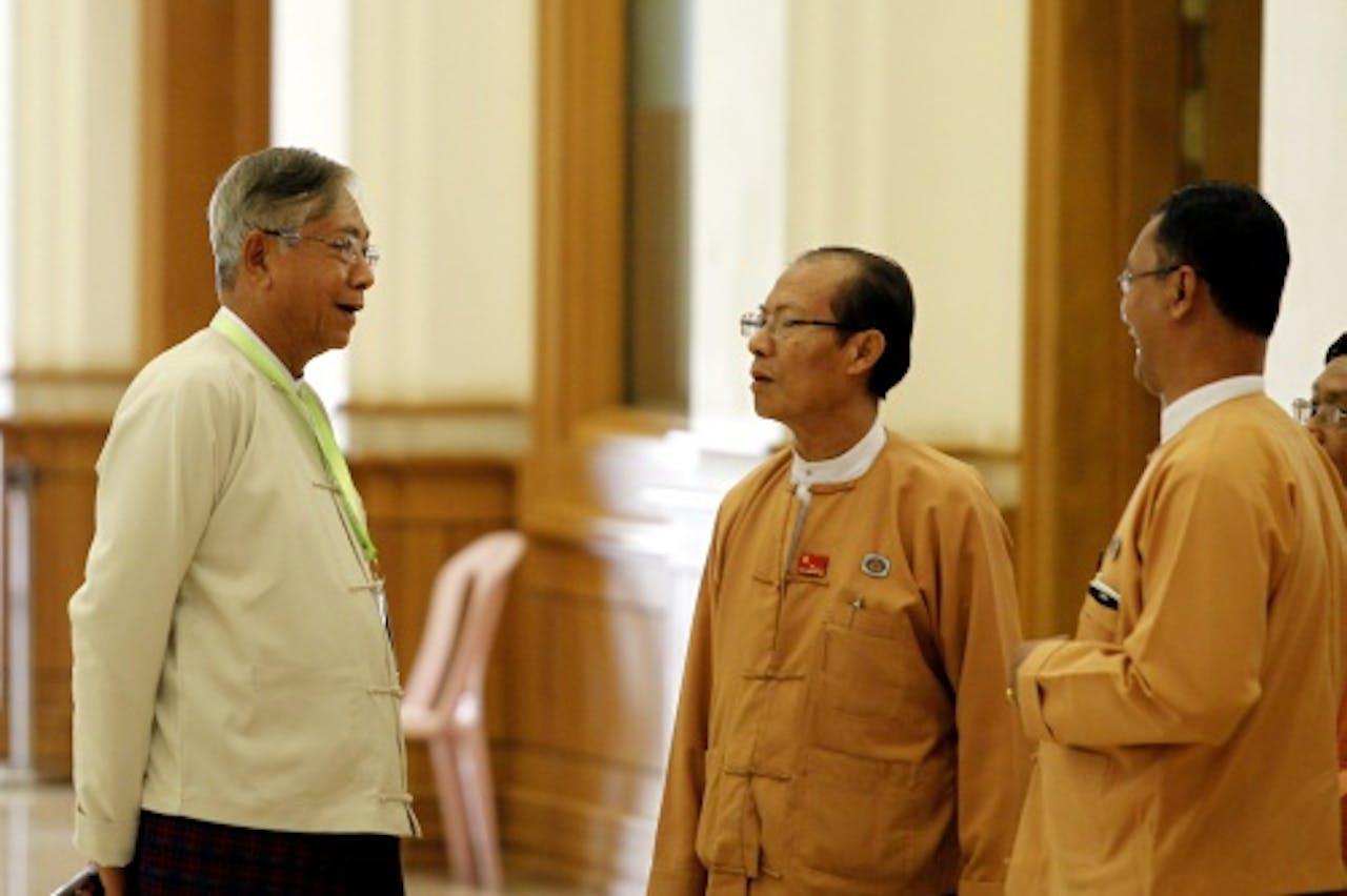 Htin Kyaw (L). EPA