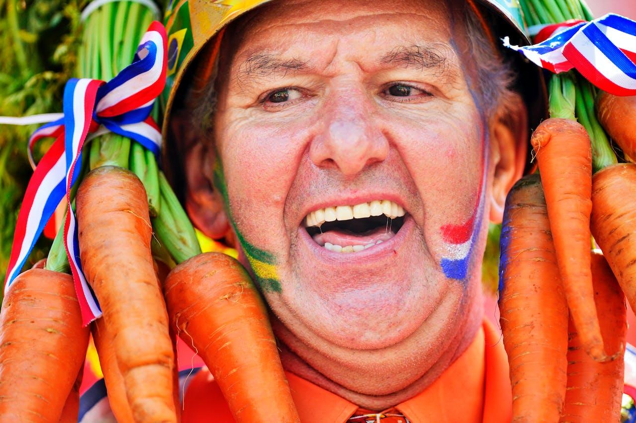 Deze Nederlander is hartstikke blij. Foto ANP