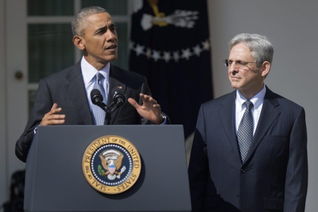 Obama met Merrick Garland. EPA