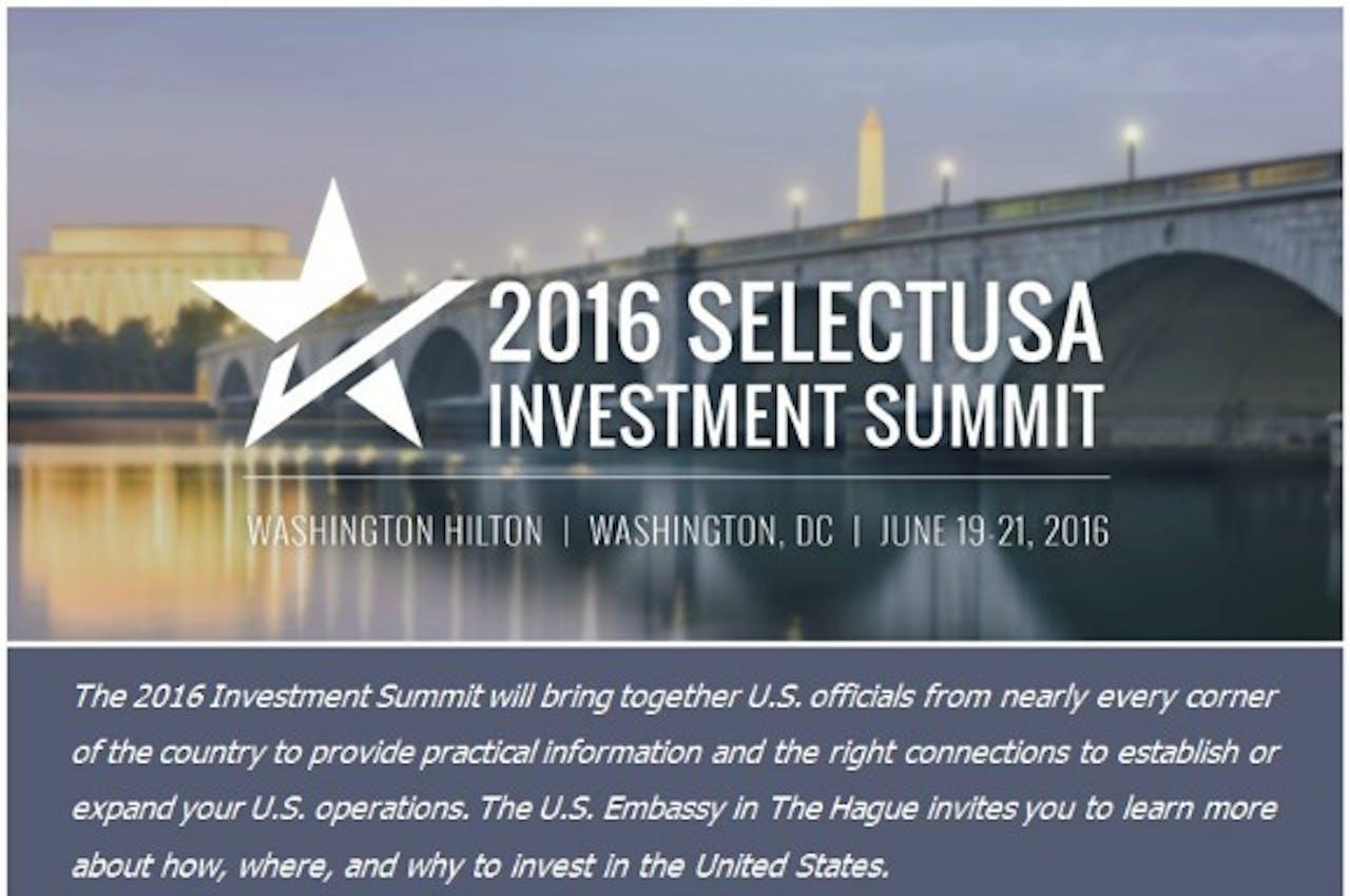 Beeld: SelectUSA InvestmentSummit