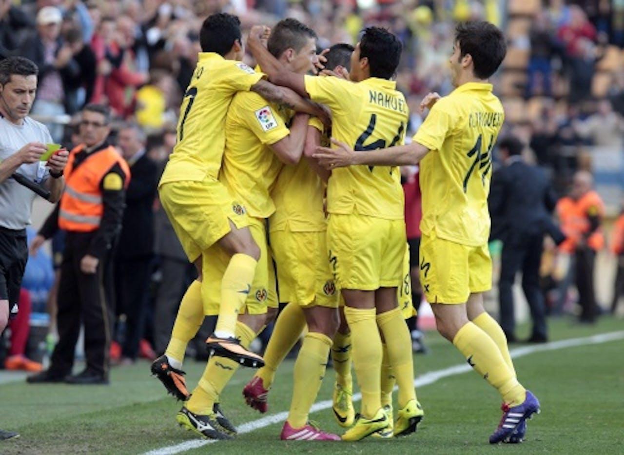 Juichende spelers Villareal. EPA