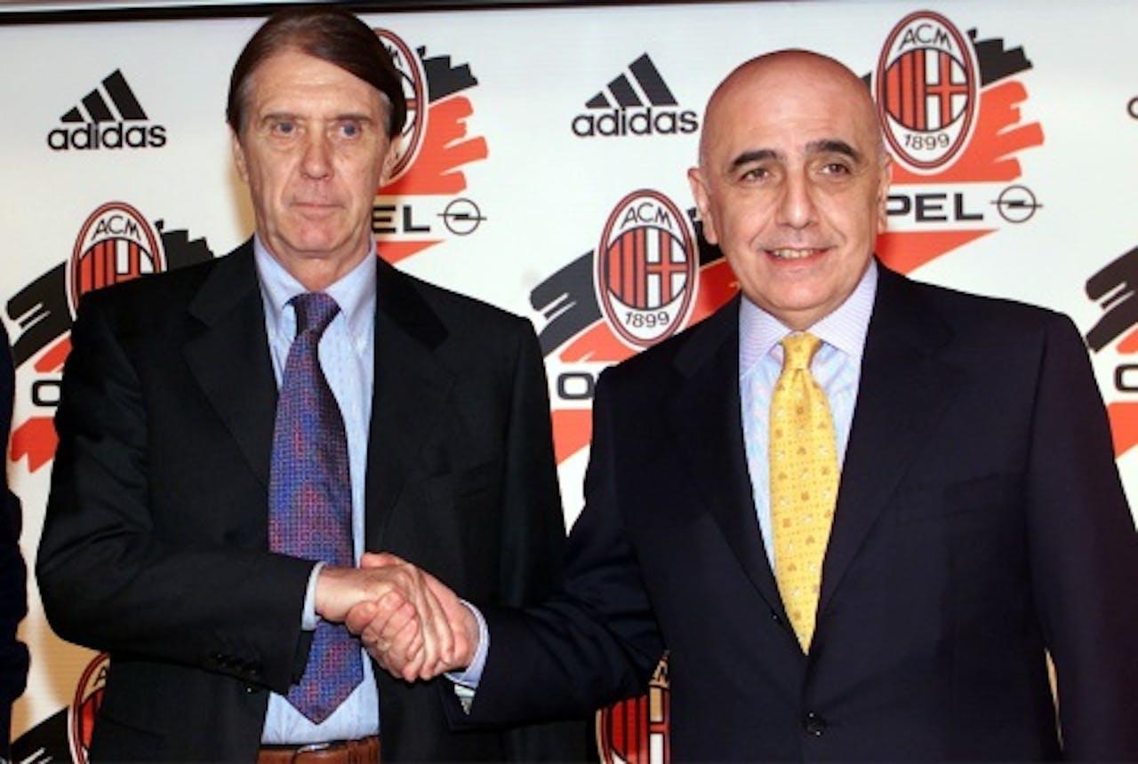 Cesare Maldini (L) en Adriano Galliani. EPA