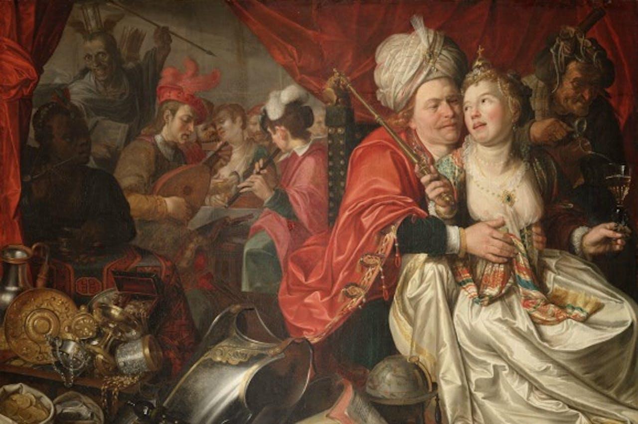 Detail van één van de teruggevonden doeken die in 2005 uit het Westfries Museum werden gestolen. Foto ANP