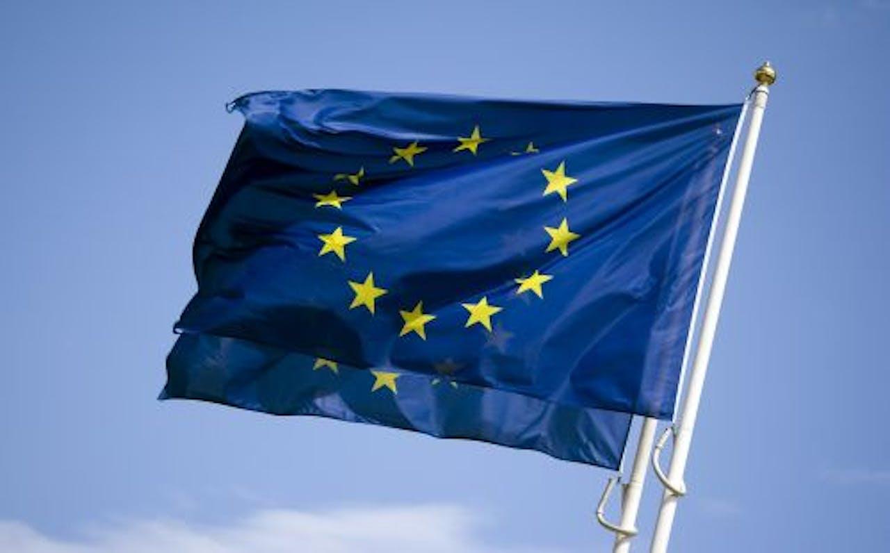 Vlag van Europese Unie. ANP