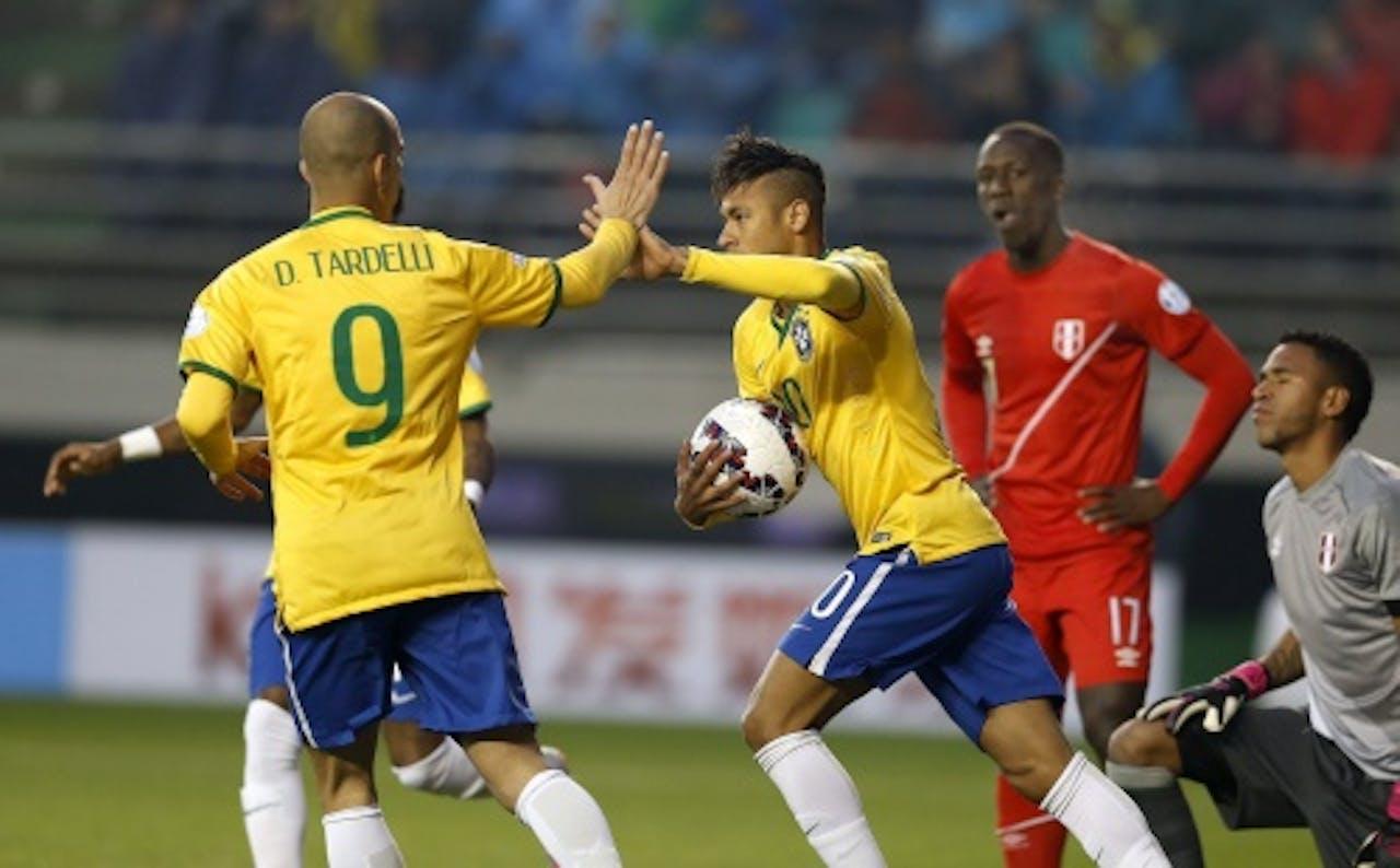 Neymar na het scoren van de gelijkmaker (EPA)