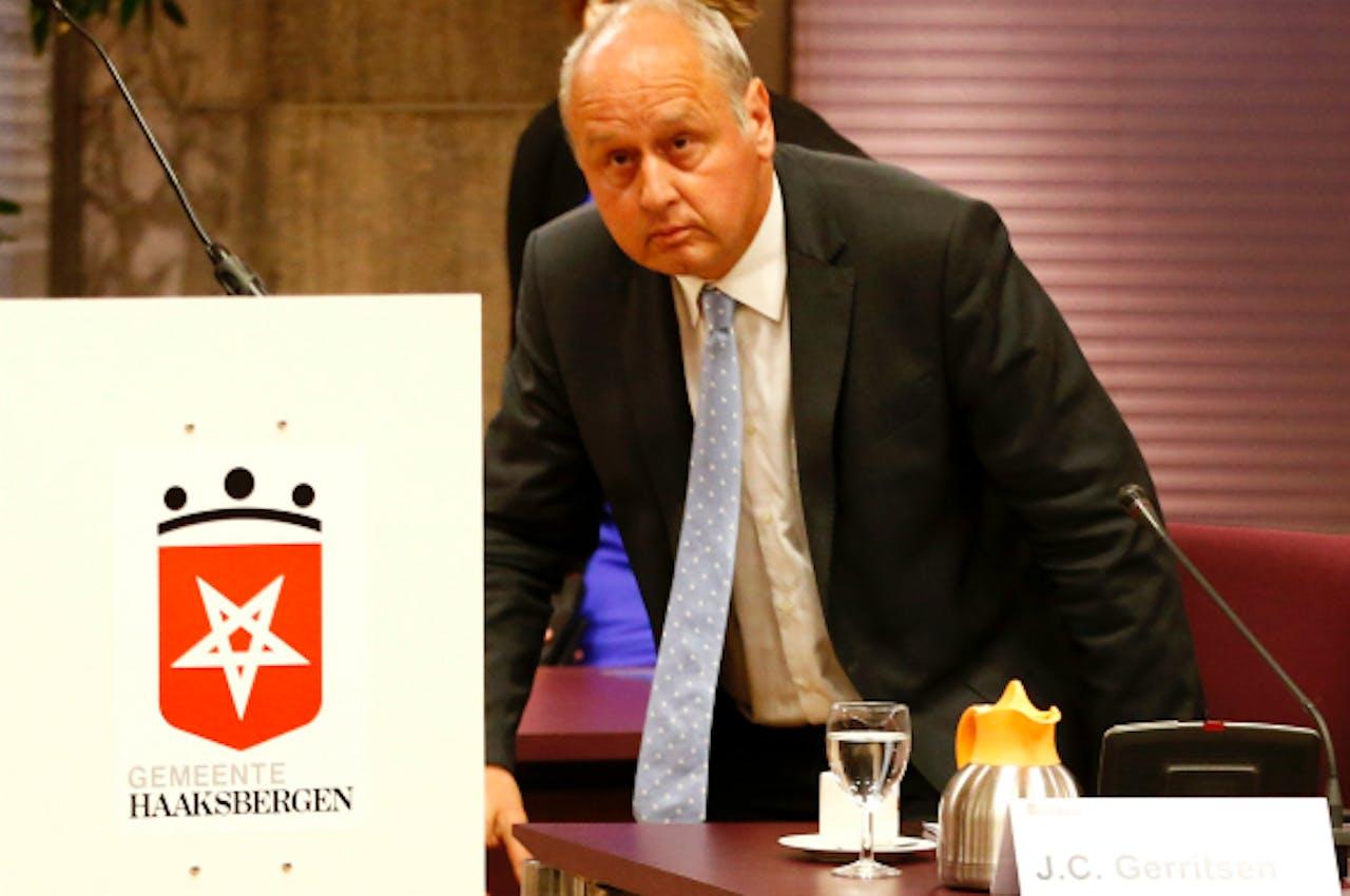 Foto: ANP - De opgestapte burgemeester Gerritsen van Haaksbergen