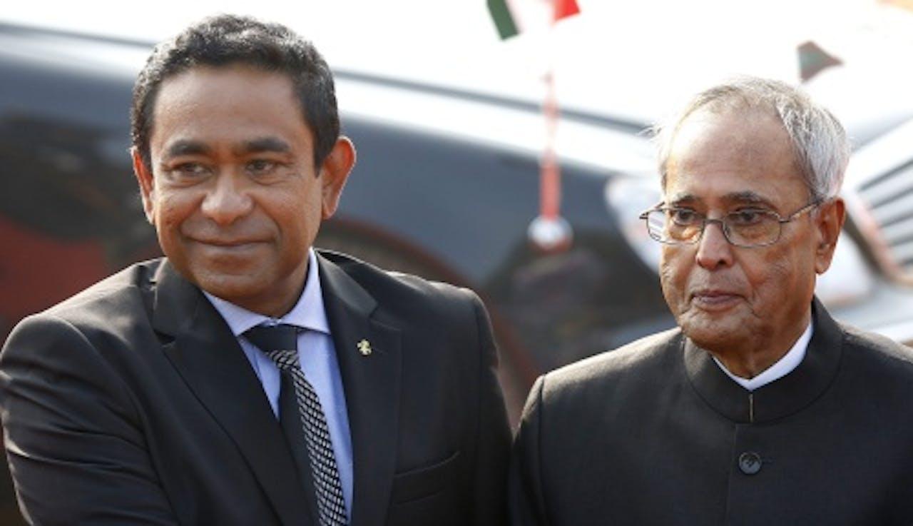 Abdulla Yameen (L). EPA Archiefbeeld